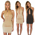 Women's Bodycon Bandage Evening Party Sleeveless Cocktail Club Short Mini Dress