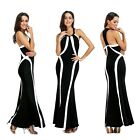 Woman lady close-fitting fashion elegant party formal sleeveless one-piece dress