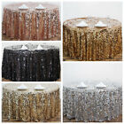 "120"" Large Payette Sequin Round Tablecloth Wedding Linens - 5 Colors"