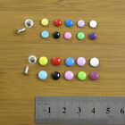 50 x COLOUR SINGLE CAP RIVETS *10 COLOURS 2 SIZES* LEATHERCRAFTS STUD REPAIR