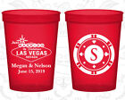 Personalized Plastic Beer Cups Custom Cup (59) Las Vegas Sign, Wedding Favors