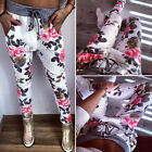 New Fashion Women Sweatpants Ladies Flower Printed Pants Capris Casual Trousers