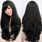 Long Loose Wavy Lace Wig Curly Full Front Natural Hair Wigs Women Black