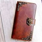 Fox phone wallet Leather flip case Wolf Handmade cover For Sony Xperia Z5 XA1 C5