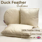 100% NATURAL DUCK FEATHER CUSHION PADS INNER INSERTS FILLERS SCATTERS UK MADE