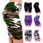 New Women's Ladies Girls Printed Gym Yoga Active Dancing Cycling Shorts UK 8-26