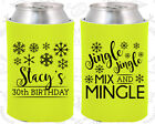 Monogrammed 30th Birthday Party Ideas Coozies (20188) Christmas Birthday, Xmas