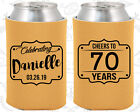 Personalized 70th Birthday Party Gifts Koozie (20227) Che...