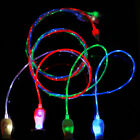1M/3.3FT USB C Visible Flowing LED Light Up Charger Type-C Data Sync Cable Lot