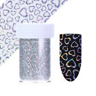Holographic Nail Foil Hexagon Dot Heart Nail Art Transfer Starry Stickers Decor