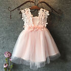 Baby Flower Girl Dress Lace Tulle Backless Sundress Formal Party Dress UK Stock