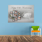 PERSONALISED PHOTO COLLAGE HAPPY 60TH WEDDING ANNIVERSARY BANNER DIAMOND