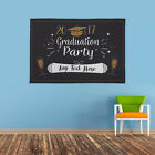 PERSONALISED GRADUATION CELEBRATION PARTY BANNER NAME AND YEAR CONGRATULATIONS