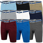 Mens Chino Shorts Cotton Summer Belted Half Pant Casual Cargo Combat Stallion