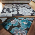 Modern Floral Design Soft Thick Quality Shaggy Rug in Various sizes and Colours