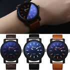 Men's Quartz Wrist Watches Analog Date Army Sport Stainless Steel Leather Luxury