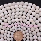4,6,8,10,12mm Natural Round White Moonstone Gemstone Beads Spacer Strand 15""