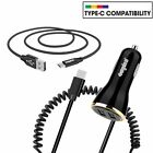 For Samsung Galaxy S20 & S10 S9 Plus USB-C FAST Rapid Car Charger w/ USB C Cable