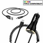 For Samsung Galaxy S8 & S8 Plus USB-C Verizon FAST Rapid Car Charger Type C