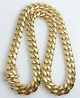 "Men 18k Yellow Gold Stainless Steel 14mm 24"" 30"" Miami Cuban Curb Link Chain"