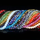 500Pcs Czech Crystal Faceted Loose Round Beads DIY Bracelet Necklace Jewelry Hot