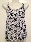 Women's Pretty Colourful Daisy Print Top, Zip-Up Back, FREE Post NEW w/ Tags 12