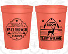Baby Shower Cups Cup Decorations (90002) Buck Or Doe Gender Reveal  Deer Antler