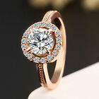 Women Gold/Silver Plated Zircon Finger Ring Wedding Engagement Jewelry Hot Cool