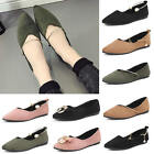 Women's Lady Sexy Suede Flats Sapatos Loafers Zapatos Pumps Shoes Party Evening