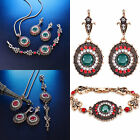 Wholesale Women Flower Gold Necklace Earring Bracelet Wedding Party Jewelry Set
