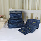 Useful 6Pcs Waterproof Travel Clothes Storage Bags Packing Luggage Organizer