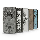 MAORI TATTOO TRIBAL ETHNIC SIGNS PU LEATHER WALLET FLIP CASE COVER FOR IPHONE