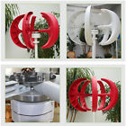 300W Vertical Axis Wind Turbine Generat Red Lantern Type Wind Motor Boat Garden