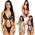 Sexy Women Lingerie Sheer BABYDOLL Lace Teddy One Piece Thong Bodysuit Plus Size