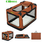 Ollieroo 3-Doors Foldable Portable Dog Crate Travel Pet Home Soft-Sided Carrier