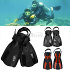 New Two Bare Feet Adults Fins Flippers Scuba Diving Swimming Snorkelling Swim