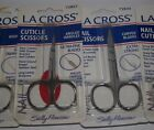 Sally Hansen LA CROSS  nail cuticle safty nose point tip scissors CHOOSE