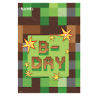 TNT Minecraft Pixel Building Birthday Party Tableware Decorations Supplies