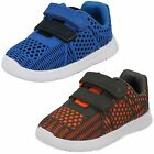 Boys Clarks Casual Hook & Loop Trainers Ath Lane