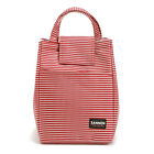 New Insulated Lunch Bag Striped Food Storage Case Carry Tote Work Picnic Cooler