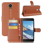 "Build-in Back Case PU Leather Stand Flip Cover For 5.0"" Wiko harry Smartphone"
