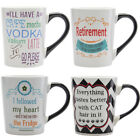 20oz Funny Quote Ceramic Porcelain Coffee Mug By Tumbleweed Stoneware Cup Handle
