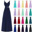 2017 Long Chiffon Prom Dress Bridesmaid Dresses Formal Evening Cocktail Party Dr
