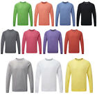 New Mens Russell Contemporary Slim Fit Crew Neck Raglan Sweatshirt Size XS-2XL