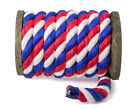 Ravenox Natural Twisted Cotton Rope   1/2 Inch   Multiple Colors   Made in USA