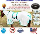 Horse Bug Mosquito Fly Sheet Summer Spring Airflow Mesh UV Neck White 73140