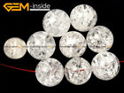 6/10pcs Natural Stone Genuine Round Crackle Rock Quartz Beads For Jewelry Making