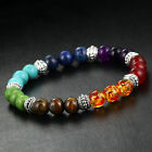 Colorful Elastic Turquoise Agate Beads Bracelet Wristband Charms Healing Jewelry