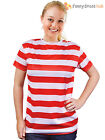 Ladies Red & White Striped T-Shirt Fancy Dress Silly Wally Book Week Outfit