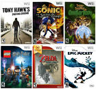 Nintendo Wii Game Pick From Drop Down Menu 100+ Games FREE SHIPPING A-I